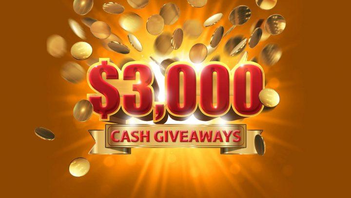 $3K Cash Giveaway