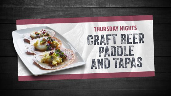 Craft Beer Paddle and Tapas