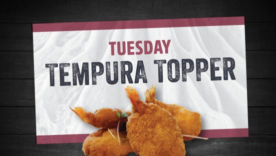 Tempura Topper Tuesdays