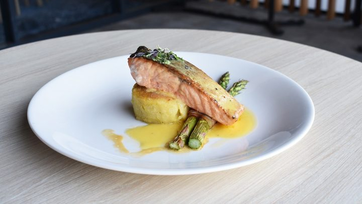 Salmon & Prosciutto-wrapped Asparagus