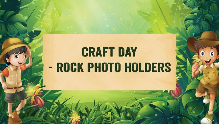 Kids Craft Day – Rock Photo Holders