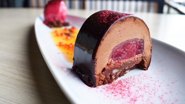 Chocolate Raspberry Log