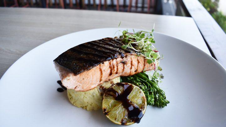 Balsamic Salmon with Rosti