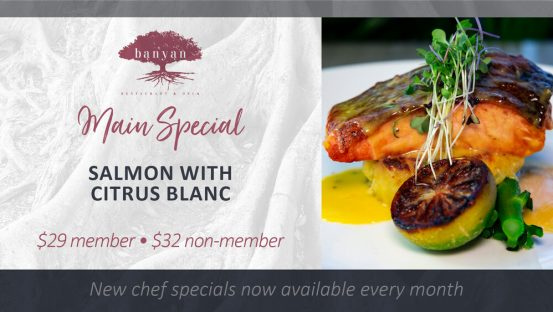 Salmon with Citrus Blanc
